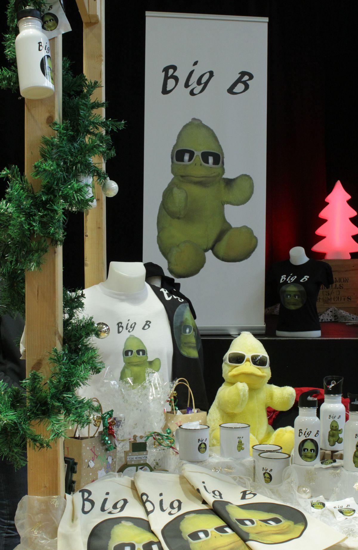 BigB – der gelbe Erpel aus Beckum – hat sich am ersten Adventswochenende erstmals der Öffentlichkeit präsentiert.
